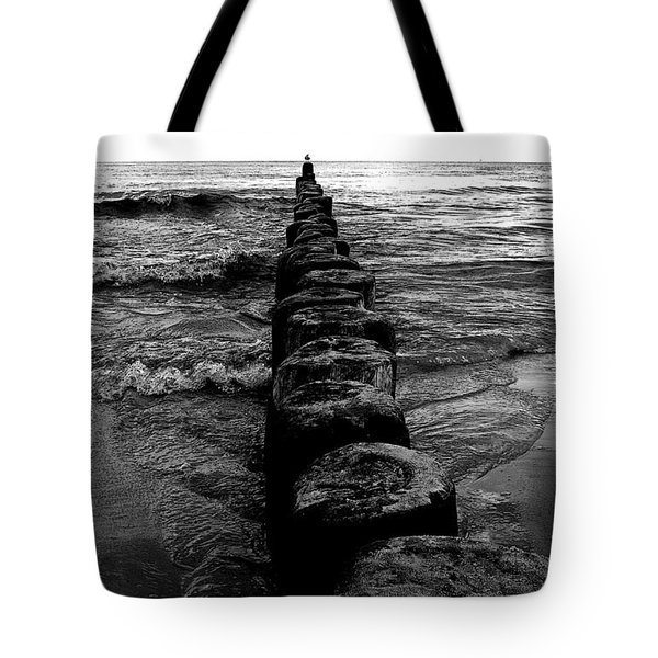 Distant Seagull Baltic Beach Tote Bag