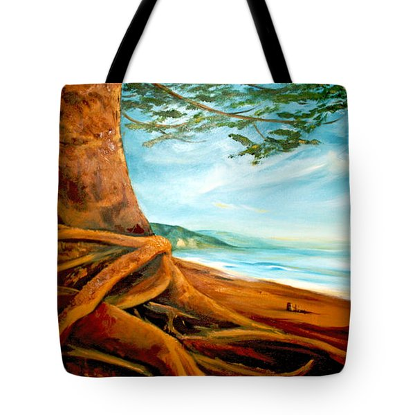Tote Bag featuring the painting Distant Shores Rejoice by Meaghan Troup