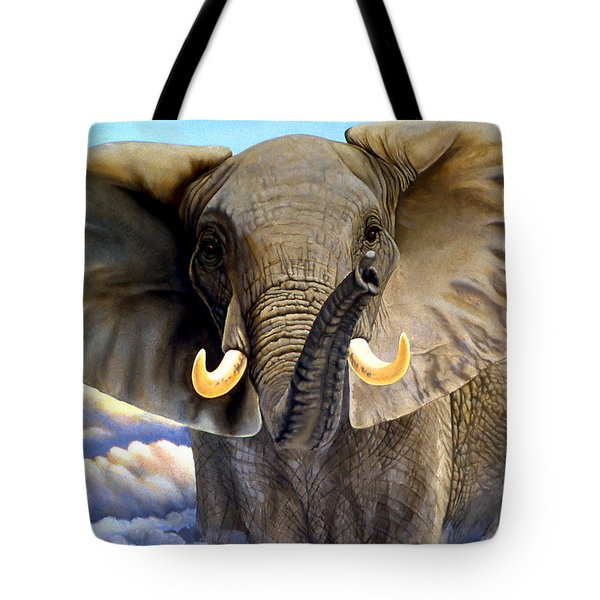 Da108 Distant Thunder By Daniel Adams Tote Bag