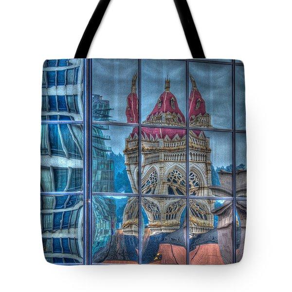 Distorted Portland Tote Bag