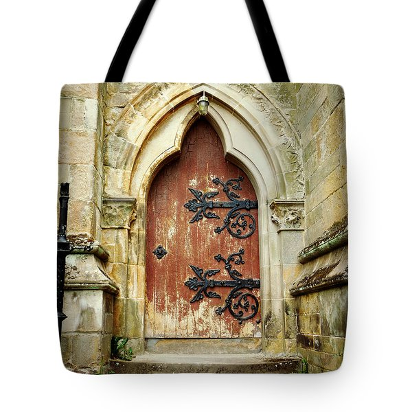 Distressed Door Tote Bag