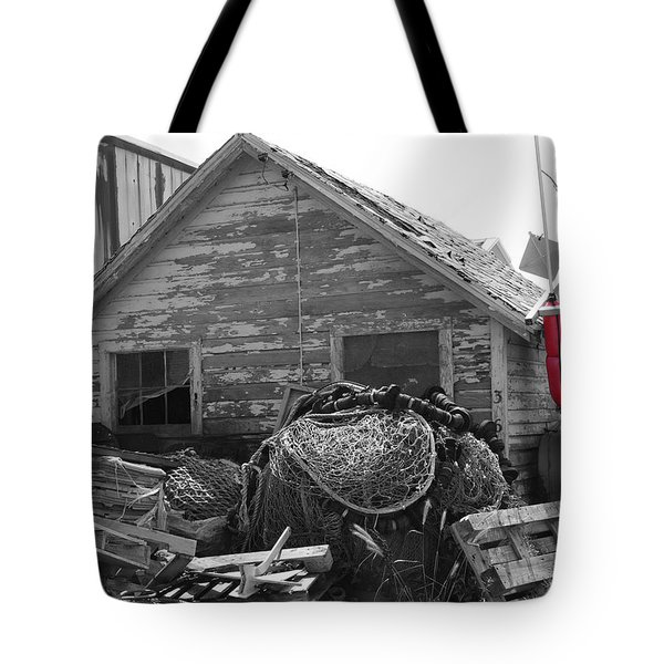 Distressed Fishery Tote Bag