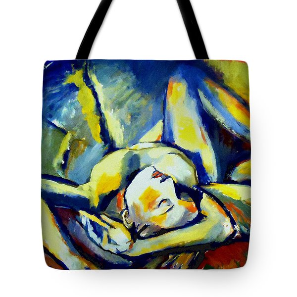 Tote Bag featuring the painting Distressful by Helena Wierzbicki
