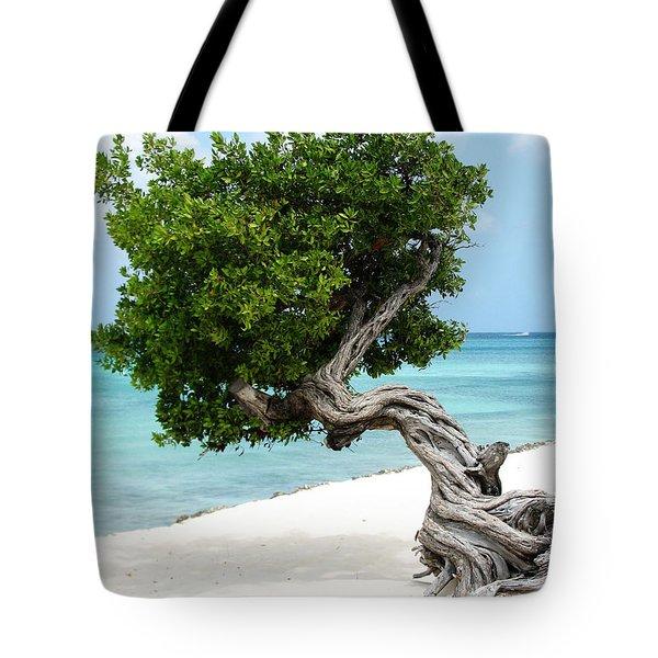 Divi Divi Tree In Aruba Tote Bag by DejaVu Designs