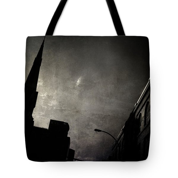 Divided  By Belief  Tote Bag by Empty Wall