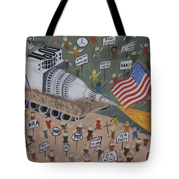 Divided We Stand Tote Bag by Dean Stephens