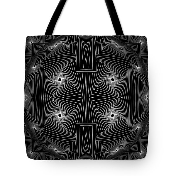 Tote Bag featuring the digital art Dividing Facts - 7 by Sir Josef - Social Critic - ART