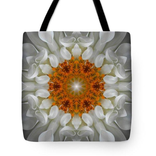 Divine Love Flower Mandala Tote Bag