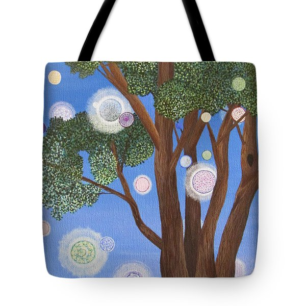 Tote Bag featuring the painting Divine Possibilities by Cheryl Bailey