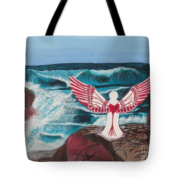 Tote Bag featuring the painting Divine Power by Cheryl Bailey