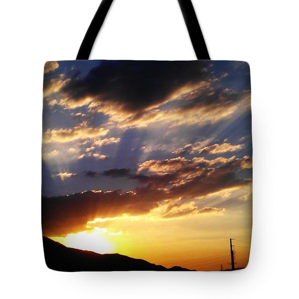 Divine Sunset Tote Bag