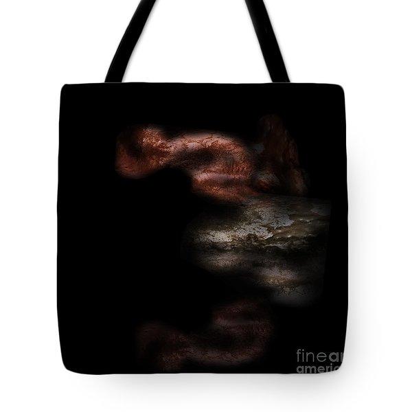 Tote Bag featuring the digital art Diving In by Nicholas Burningham