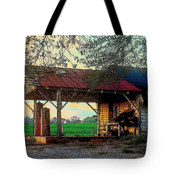 Tote Bag featuring the photograph Dixie Oil And Gasoline by Rodney Lee Williams
