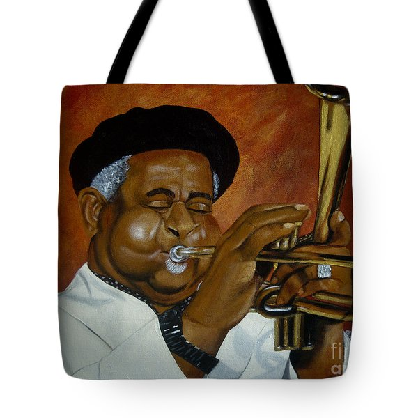 Dizzie Gillespie In Color Tote Bag by Chelle Brantley