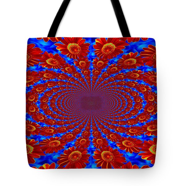 Tote Bag featuring the photograph Dizzying Daisies by Kelly Nowak