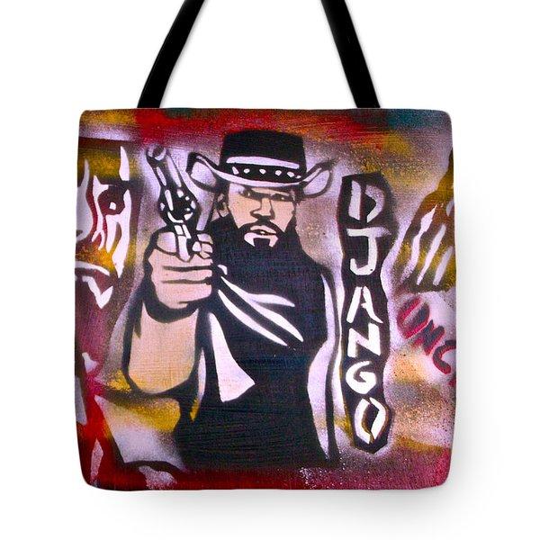 Django Blood Red Tote Bag by Tony B Conscious
