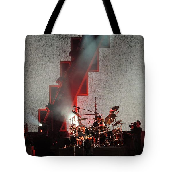 Tote Bag featuring the photograph Dmb Members by Aaron Martens