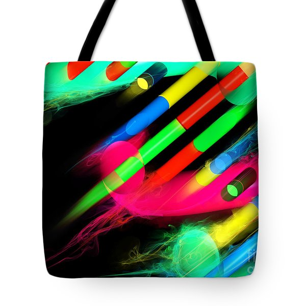 Tote Bag featuring the digital art Dna Dreaming 8 by Russell Kightley