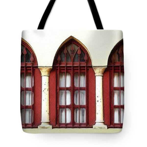 Tote Bag featuring the photograph Do-00368 The 3 Windows Downtown by Digital Oil