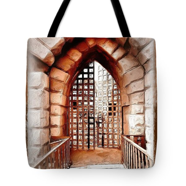 Tote Bag featuring the photograph Do-00424 Portail Of Citadel Sidon by Digital Oil