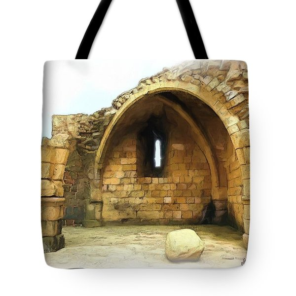 Tote Bag featuring the photograph Do-00427 Citadel Of Sidon by Digital Oil