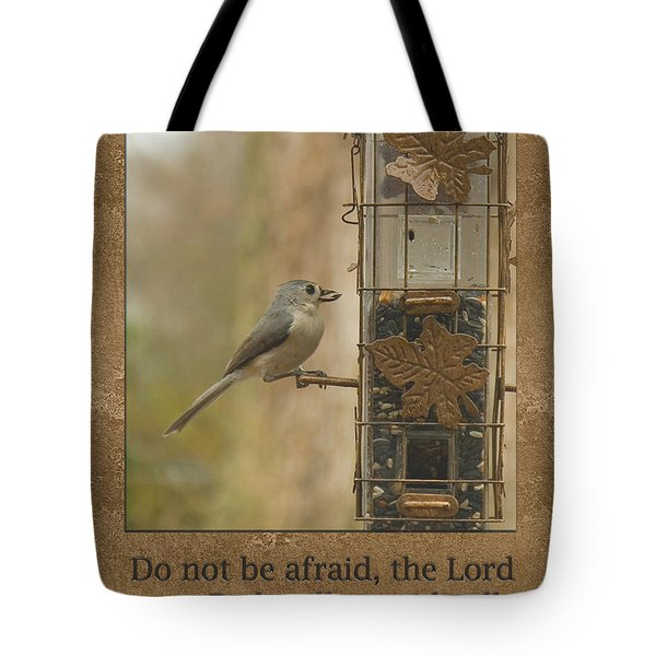 Do Not Be Afraid God Will Provide Tote Bag