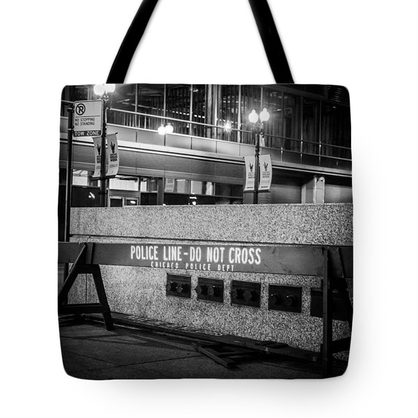 Do Not Cross Tote Bag by Melinda Ledsome