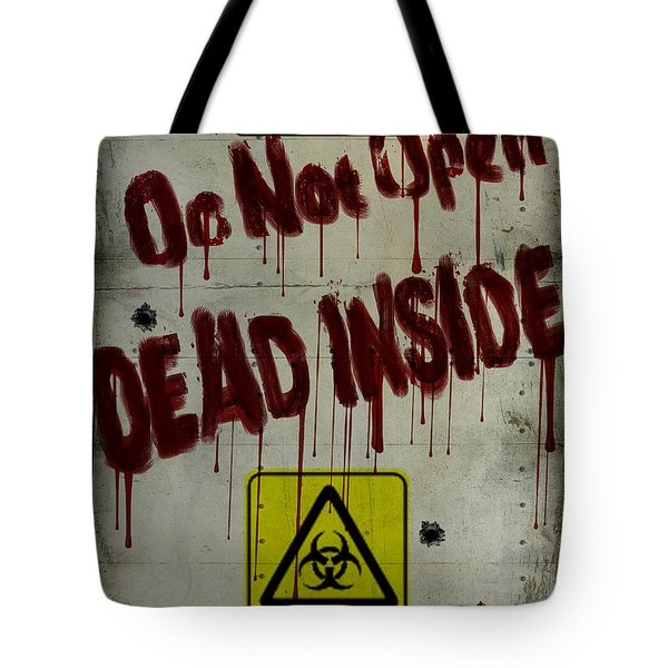 Do Not Open  Tote Bag by Cinema Photography