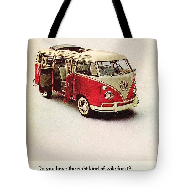 Do You Have The Right Kind Of Wife For It Tote Bag by Nomad Art and Design
