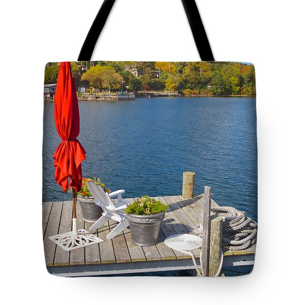 Dock By The Bay Tote Bag by William Norton