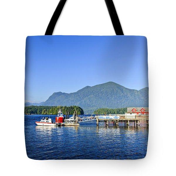 Dock In Tofino Tote Bag