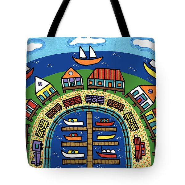 Dock Street-cedar Key Tote Bag
