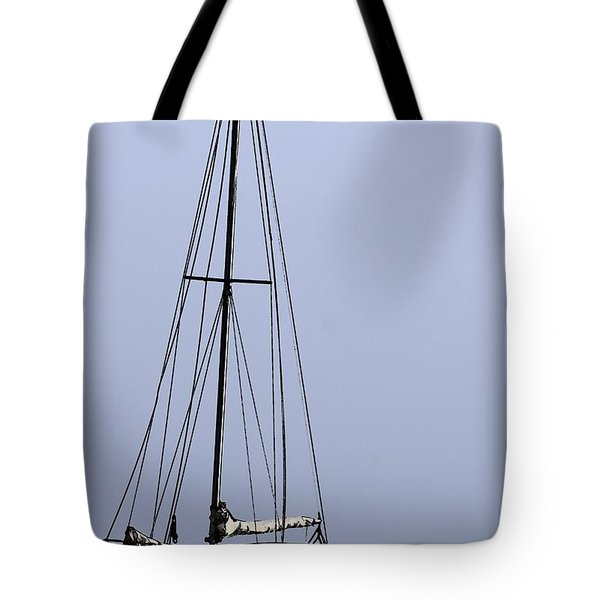 Tote Bag featuring the photograph Docked At Bay by Lilliana Mendez