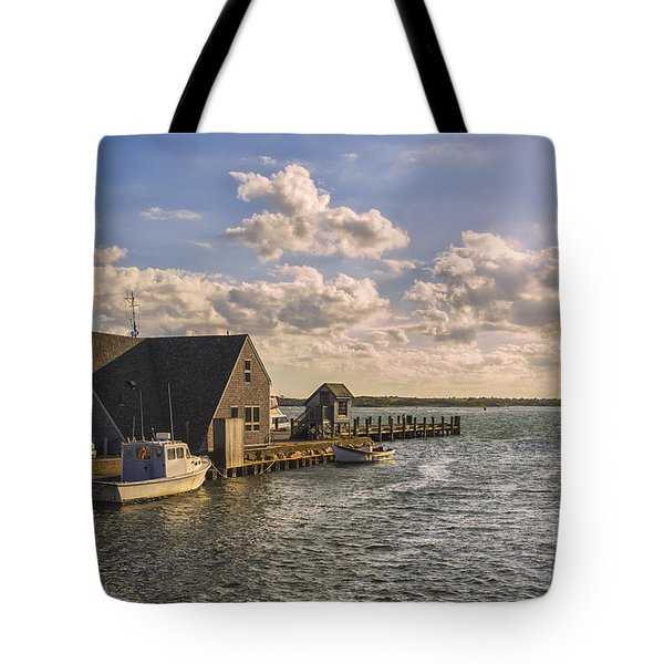 Docked Boats Woods Hole Cape Cod Ma  Tote Bag
