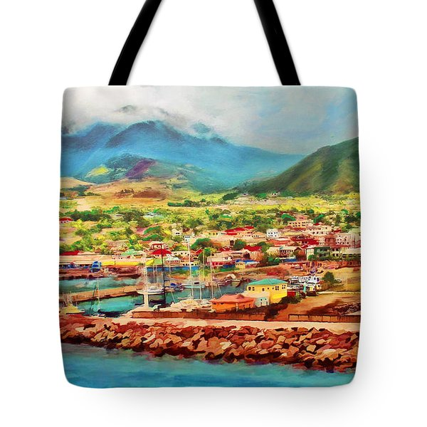 Docked In St. Kitts Tote Bag