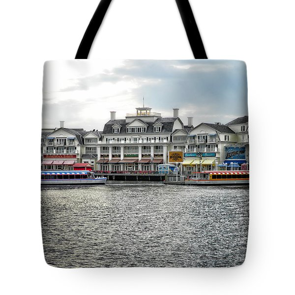 Docking At The Boardwalk Walt Disney World Tote Bag