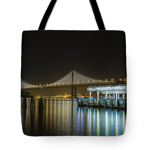 Docks And Bay Lights Tote Bag