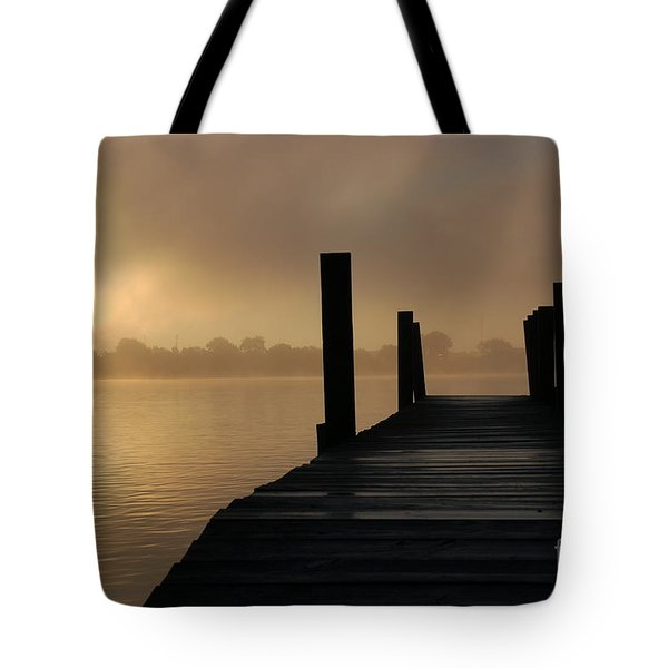 Dockside And A Good Morning Tote Bag
