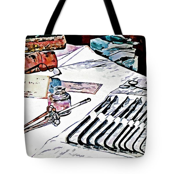 Tote Bag featuring the photograph Doctor - Medical Instruments by Susan Savad
