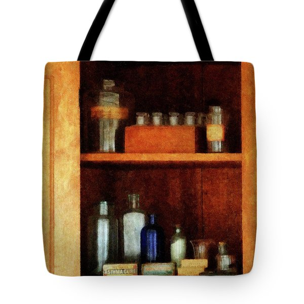 Doctor - Medicine Chest With Asthma Medication Tote Bag by Susan Savad