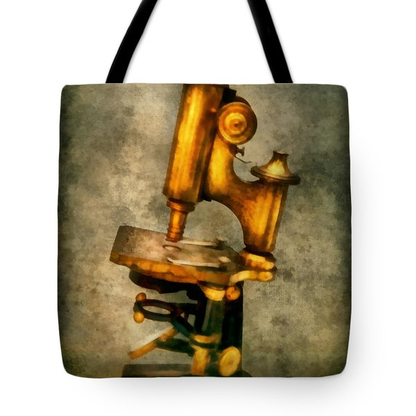 Doctor - Microscope - The Start Of Modern Science Tote Bag by Mike Savad