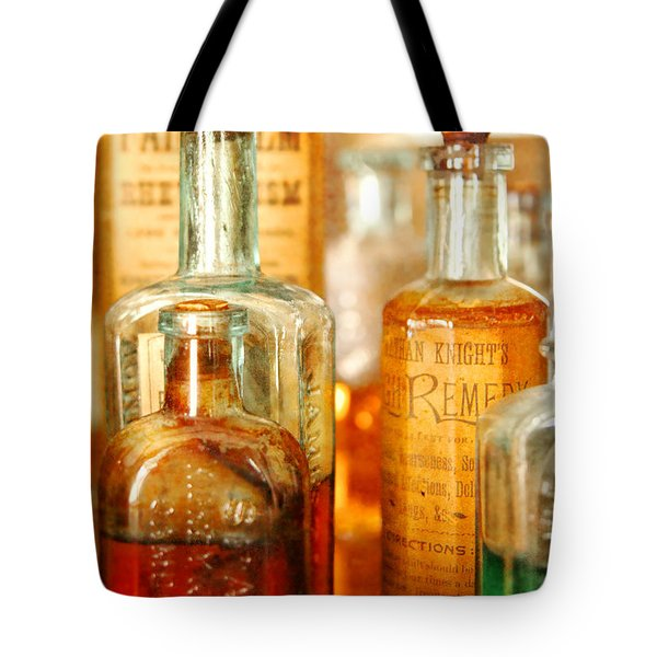 Doctor - Remedies For Hoarseness  Tote Bag by Mike Savad