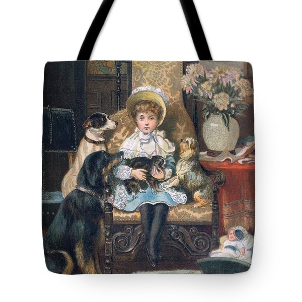 Doddy And Her Pets Tote Bag by Charles Trevor Grand