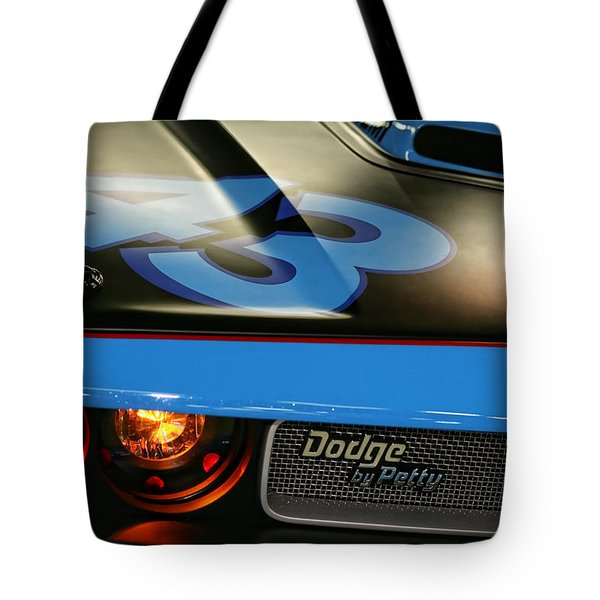Tote Bag featuring the photograph Dodge By Petty by Gordon Dean II