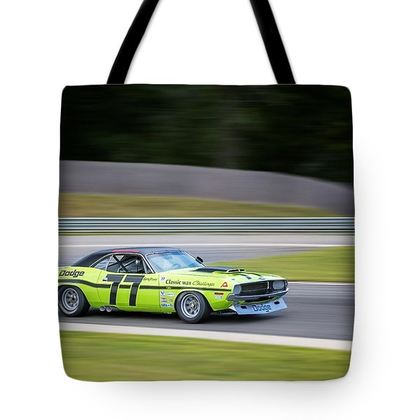 Dodge Challenger Tote Bag by Bill Wakeley