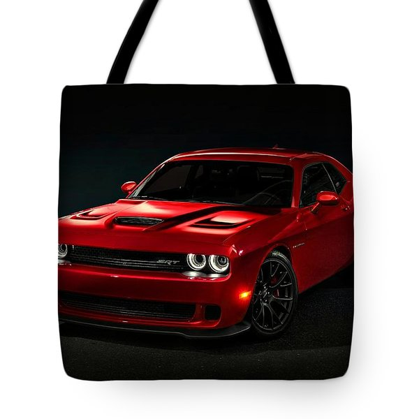 Dodge Challenger S R T Hellcat Tote Bag by Movie Poster Prints