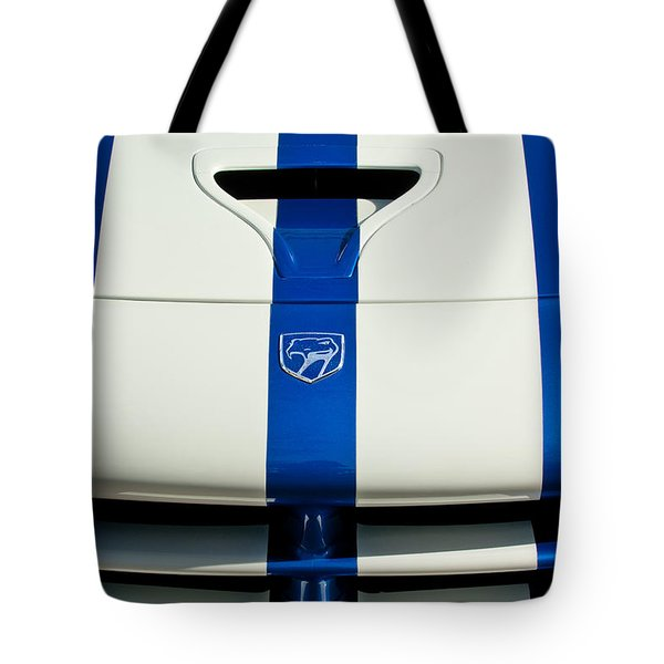 Dodge Viper Hood Emblem Tote Bag by Jill Reger