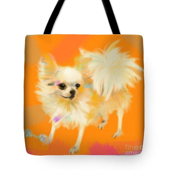 Dog Chihuahua Orange Tote Bag