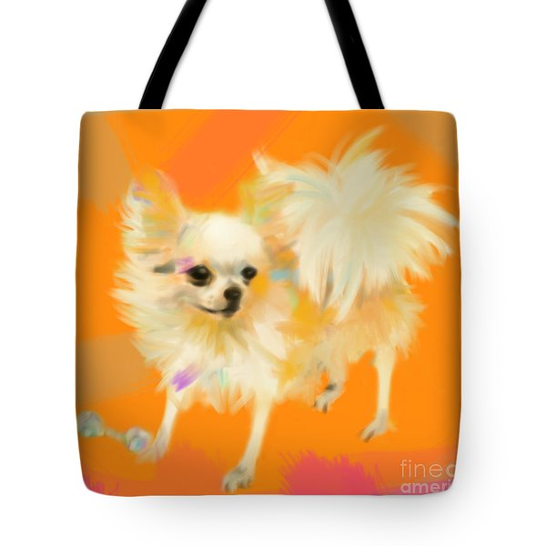 Dog Chihuahua Orange Tote Bag