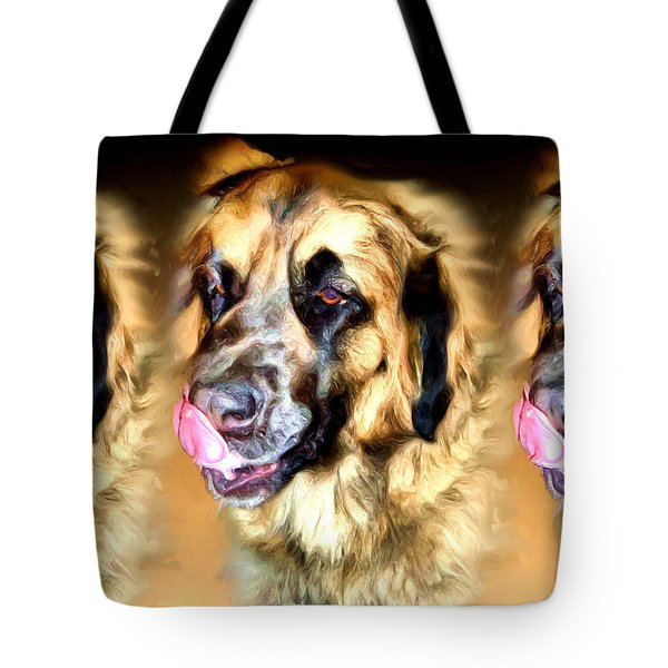 Tote Bag featuring the digital art Dog by Daniel Janda